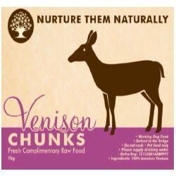 NTN Venison Chunks Boneless 1kg