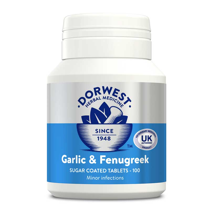 DW Garlic & Fenugreek Tablets for dogs& cats – 100 tablets