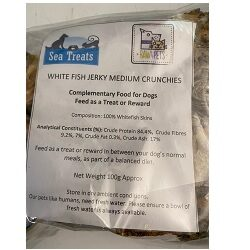 ST Whitefish Jerky Medium Crunchies 100g