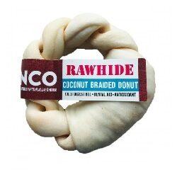 AC Coconut Rawhide Braided Donut Medium